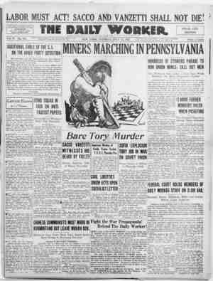 The Daily Worker Gazetesi 12 Temmuz 1927 kapağı