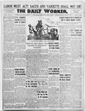 The Daily Worker Gazetesi 13 Temmuz 1927 kapağı