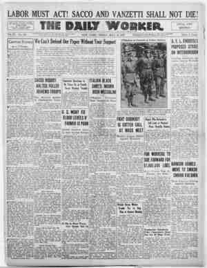 The Daily Worker Gazetesi 15 Temmuz 1927 kapağı