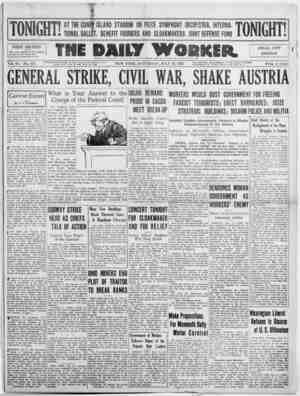 The Daily Worker Gazetesi 16 Temmuz 1927 kapağı