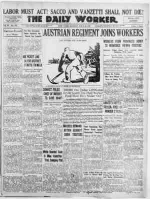 The Daily Worker Gazetesi 18 Temmuz 1927 kapağı