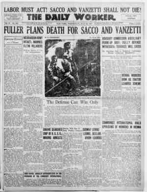 The Daily Worker Gazetesi 20 Temmuz 1927 kapağı