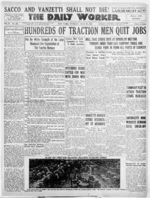 The Daily Worker Gazetesi 26 Temmuz 1927 kapağı