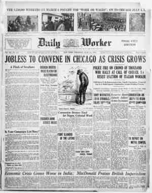 "VER 1,250,000 WORKERS ON MARCH 6 FOUGHT FOR ""WORK OR WAGES""; ON TO CHICAGO JULY 4, 5. Scene of the brutal beatings in the N."