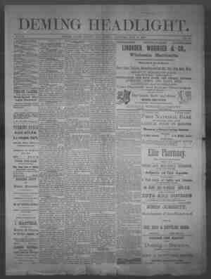 Deming Headlight Gazetesi 14 Haziran 1890 kapağı