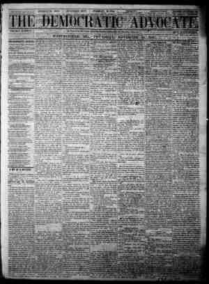 The Democratic Advocate Gazetesi 30 Kasım 1865 kapağı