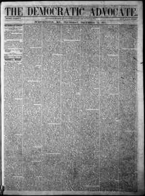 The Democratic Advocate Gazetesi 14 Aralık 1865 kapağı