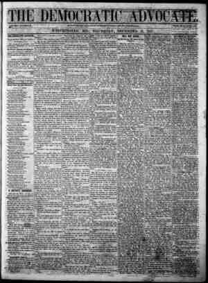 The Democratic Advocate Gazetesi 21 Aralık 1865 kapağı