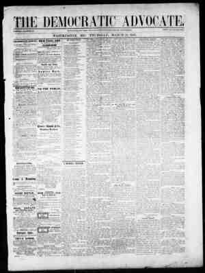 The Democratic Advocate Gazetesi 22 Mart 1866 kapağı