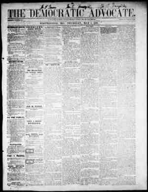 The Democratic Advocate Gazetesi 3 Mayıs 1866 kapağı