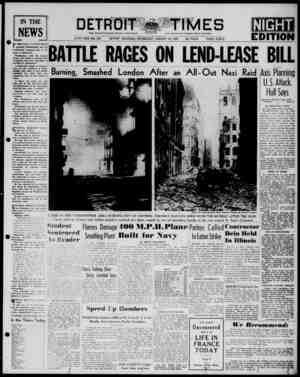 Detroit Evening Times Gazetesi 15 Ocak 1941 kapağı