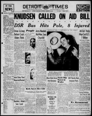 Detroit Evening Times Gazetesi 18 Ocak 1941 kapağı