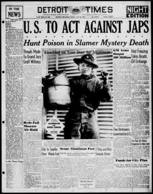 IN THE NEWS NEW YORK, July 3. Mr. W. R. Meant, Wyntoon, McCloud, California. Dear Mr. Heant: AN EMOTIONAL haze per vades the