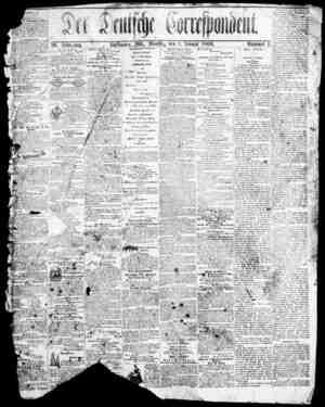 Der Deutsche Correspondent Gazetesi January 1, 1866 kapağı