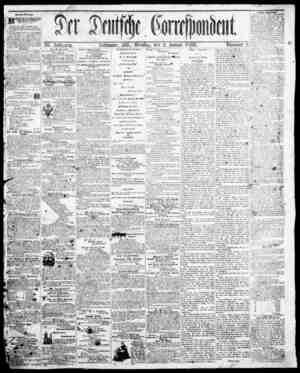 Der Deutsche Correspondent Gazetesi January 2, 1866 kapağı