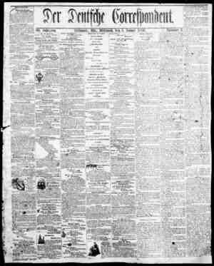 Der Deutsche Correspondent Gazetesi January 3, 1866 kapağı