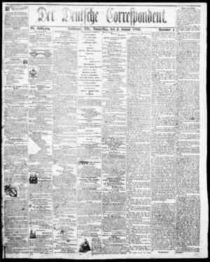 Der Deutsche Correspondent Gazetesi January 4, 1866 kapağı