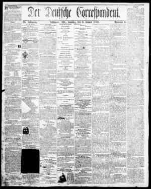 Der Deutsche Correspondent Gazetesi January 6, 1866 kapağı