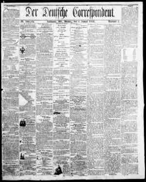 Der Deutsche Correspondent Gazetesi January 8, 1866 kapağı