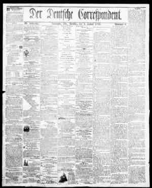 Der Deutsche Correspondent Gazetesi January 9, 1866 kapağı