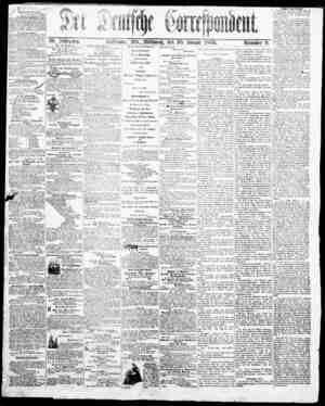 Der Deutsche Correspondent Gazetesi January 10, 1866 kapağı