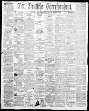 Der Deutsche Correspondent Gazetesi January 11, 1866 kapağı