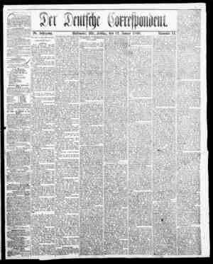 Der Deutsche Correspondent Gazetesi January 12, 1866 kapağı