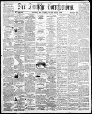 Der Deutsche Correspondent Gazetesi January 13, 1866 kapağı
