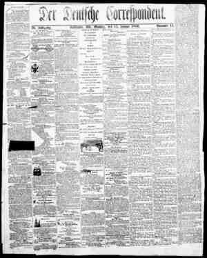 Der Deutsche Correspondent Gazetesi January 15, 1866 kapağı
