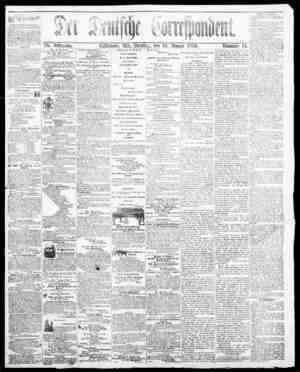 Der Deutsche Correspondent Gazetesi January 16, 1866 kapağı