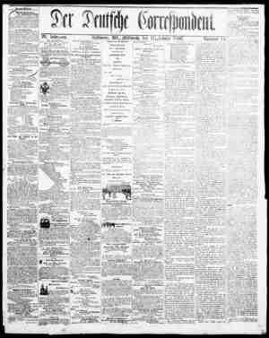 Der Deutsche Correspondent Gazetesi January 17, 1866 kapağı