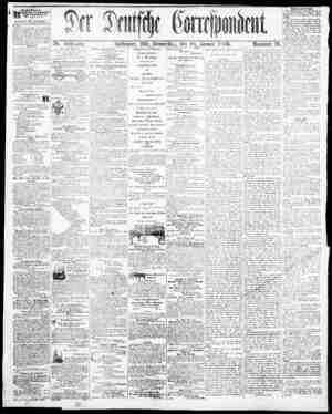 Der Deutsche Correspondent Gazetesi January 18, 1866 kapağı
