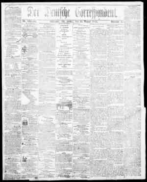 Der Deutsche Correspondent Gazetesi January 19, 1866 kapağı