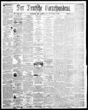 Der Deutsche Correspondent Gazetesi January 20, 1866 kapağı