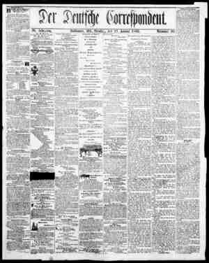 Der Deutsche Correspondent Gazetesi January 23, 1866 kapağı