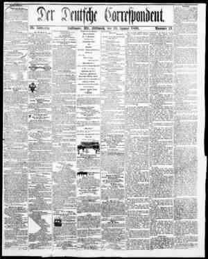 Der Deutsche Correspondent Gazetesi January 24, 1866 kapağı