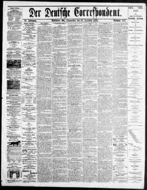 Der Deutsche Correspondent Gazetesi 30 Aralık 1875 kapağı
