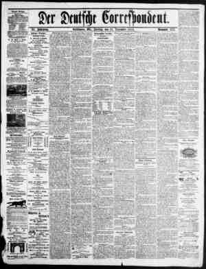 Der Deutsche Correspondent Gazetesi 31 Aralık 1875 kapağı