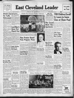 East Cleveland Leader Gazetesi July 2, 1953 kapağı