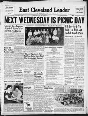 East Cleveland Leader Gazetesi July 16, 1953 kapağı