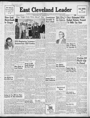 East Cleveland Leader Gazetesi August 6, 1953 kapağı