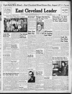 East Cleveland Leader Gazetesi August 20, 1953 kapağı