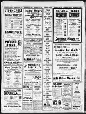 I*a8 Thursday, September 10, 1953 1952 Plymouth 4-Door Sedan 1951 Plymouth 4-Door Sedan 1950 Plymouth 4-Door Sedan 1949...