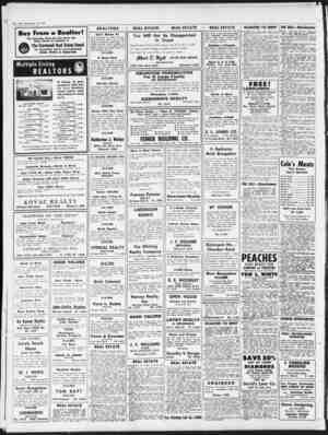 Thursday, September 10, 1953 Buy From a Realtor! The Properties Listed Iter Sale Below Are Being Offered By Members oi...