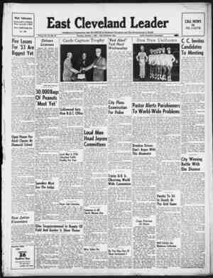 East Cleveland Leader Gazetesi October 1, 1953 kapağı