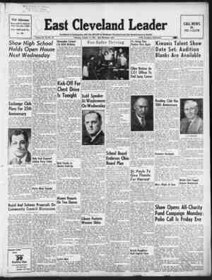 East Cleveland Leader Gazetesi October 15, 1953 kapağı
