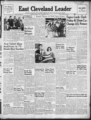 East Cleveland Leader Gazetesi November 5, 1953 kapağı