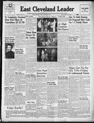 East Cleveland Leader Gazetesi November 12, 1953 kapağı
