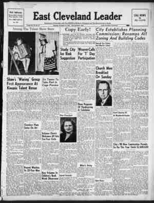 East Cleveland Leader Gazetesi 19 Kasım 1953 kapağı