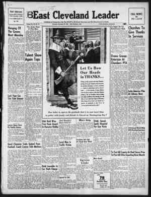 East Cleveland Leader Gazetesi 26 Kasım 1953 kapağı